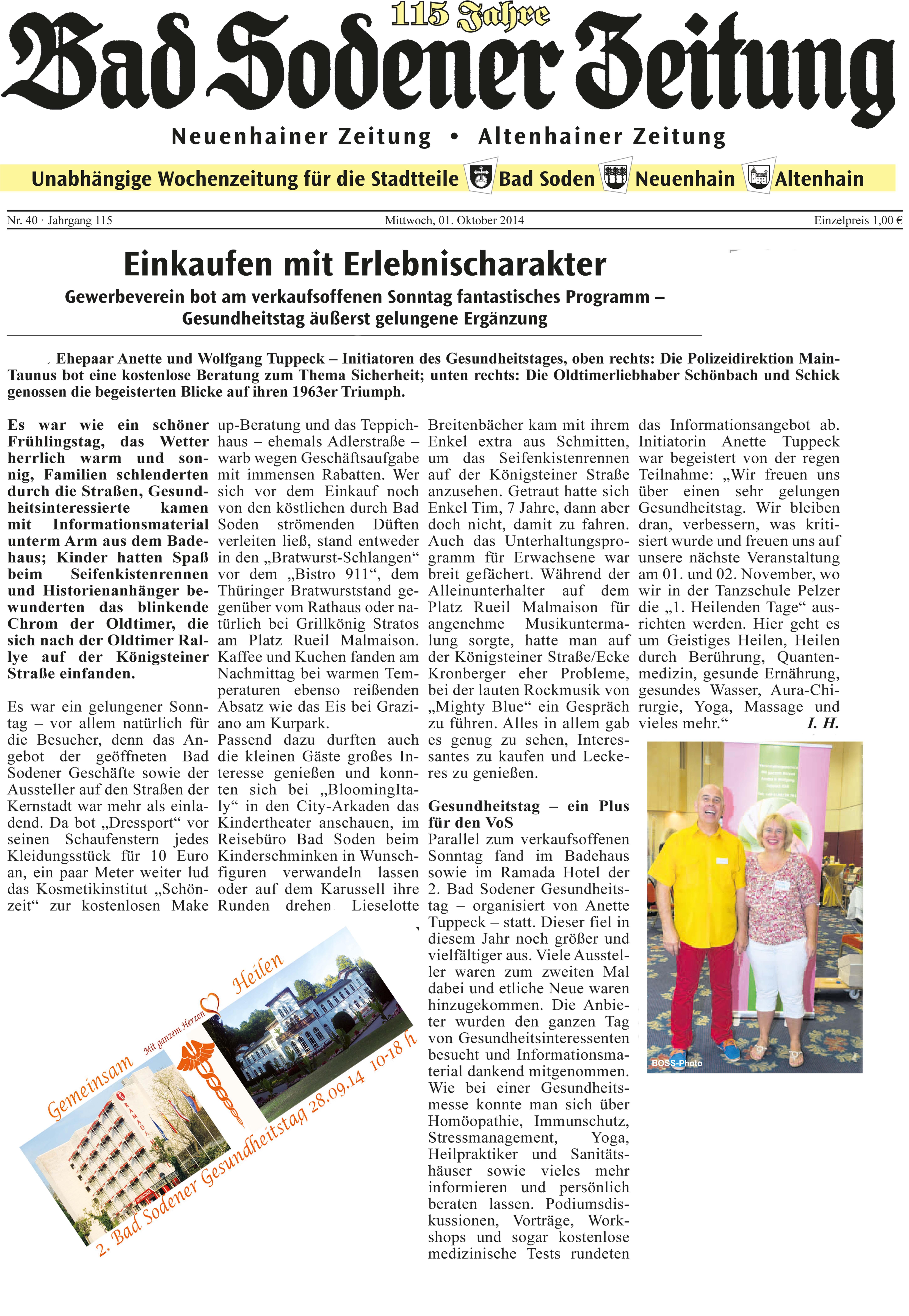 Bad Sodener Zeitung-Nachruf