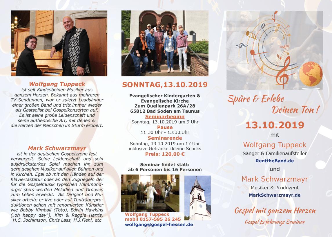 Gospel Erfahrungs Seminar 13.10.2019